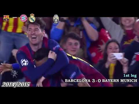 Uefa Champions League 2011-2018 All Semi Finals Goals And Highlights