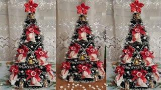 "Ёлка из мишуры и конфет Рафаэлло. Christmas Tree of Clinquant and Candies ""Raffaello"""