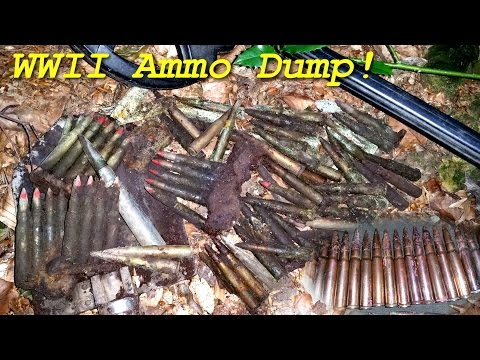 Metal Detecting WW2 - WWII Ammo Dump and 1895 Silver Coin!