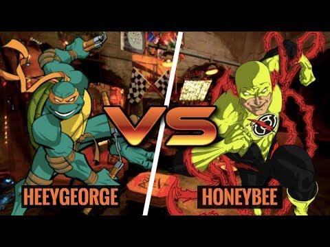 AWESOME MIKEY COMBOS! Michelangelo (HeeyGeorge) vs Reverse Flash (HoneyBee)