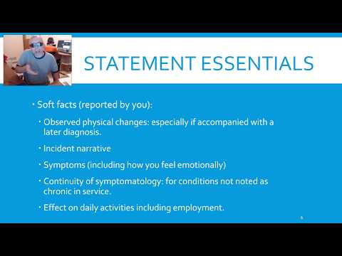 Writing Statements For VA Claims For Compensation YouTube