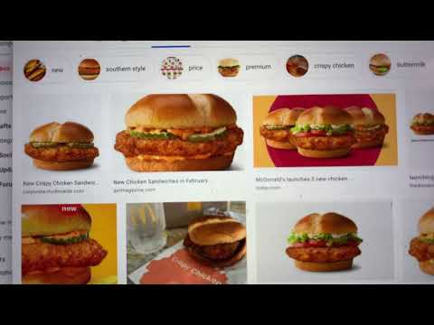Real McDonald's Chicken Sandwich Not Like The One In TV Commercials At All