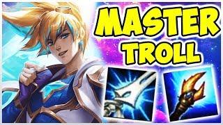 Teemo ADC & YI Top Lane Full Troll Master Elo | Noway4u Twitch Highlights (Deutsch/German) LoL