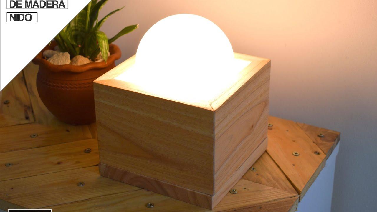 Como hacer Lampara de Madera  How to make a wood lamp   YouTube