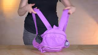 Handbag Tutorial: Ampere Creations Soft Vegan Leather Handbags Marie Backpack Style #B009 screenshot 5