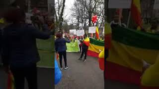Ethiopians in Sweden demonstration on MAY 1