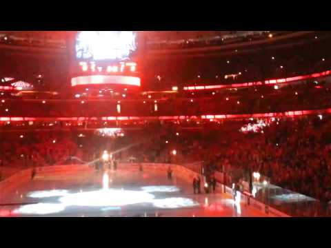 Blackhawks take the ice - Game 1 2013 Stanley Cup Finals