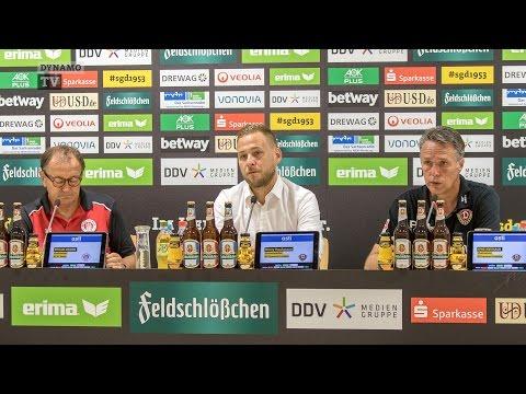 3. Spieltag   SGD - FCSP   Pressekonferenz nach dem Spiel