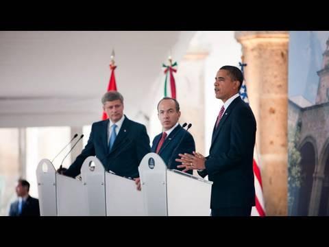 President Obama, President Calderon, PM Harper: Joint Press Conference