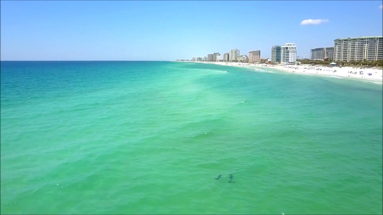 Destin Florida Beach Day By Drone You