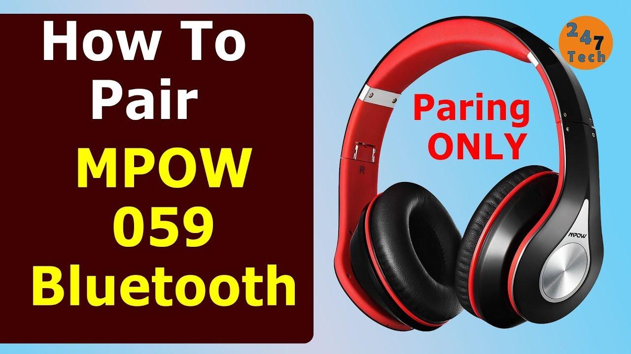 How To Pair Mpow 059 Bluetooth Headphone Youtube