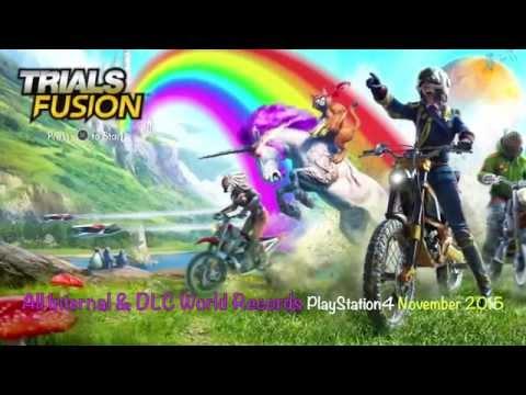 Trials Fusion - All (Internal & DLC) PS4 World Records (HD) 2015