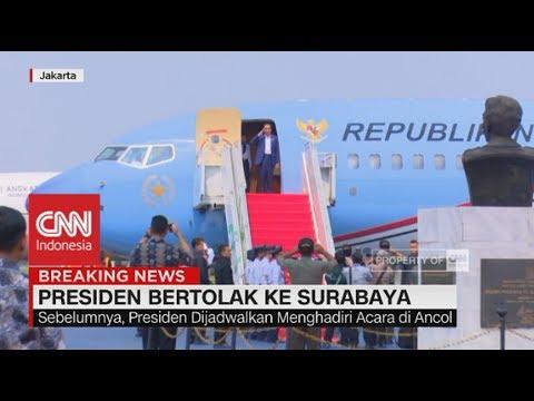 Presiden Bertolak ke Surabaya
