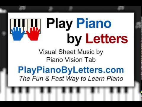 Entertainer piano letters