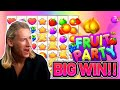 BIG WIN! FRUIT PARTY BIG WIN - HIGHROLL €20 bet Casino Slot from CASINODADDY