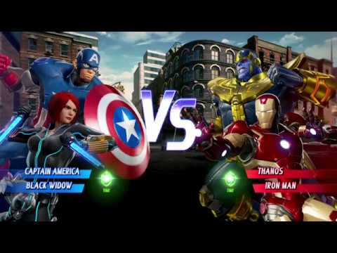 Marvel Vs Capcom Infinite Captain America And Black Widow Vs Thanos And Iron Man