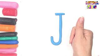 Learn Coloring and Drawing The Letter J ✅How To Teach Baby To Speak English