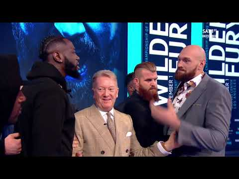 Off-air footage! Tyson Fury and Deontay Wilder carried on arguing after the press conference