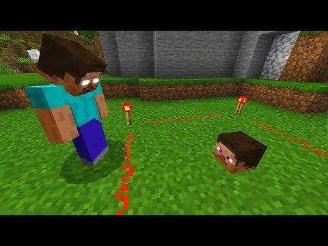I caught Herobrine doing something in Minecraft.. (TERRIFYING)