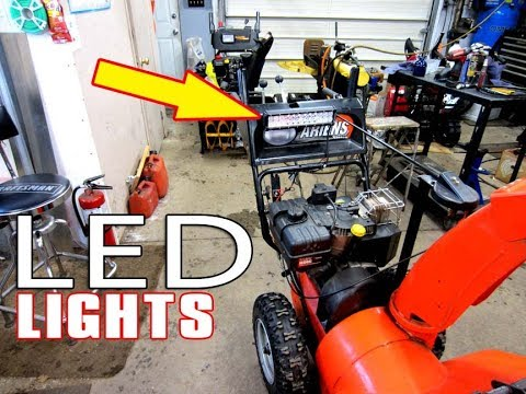 HOW-TO Install LED Lights On Your Snowblower Without The Flicker