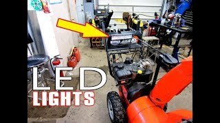 HOW-TO Install LED Lights On Your Snowblower Without The Flicker!