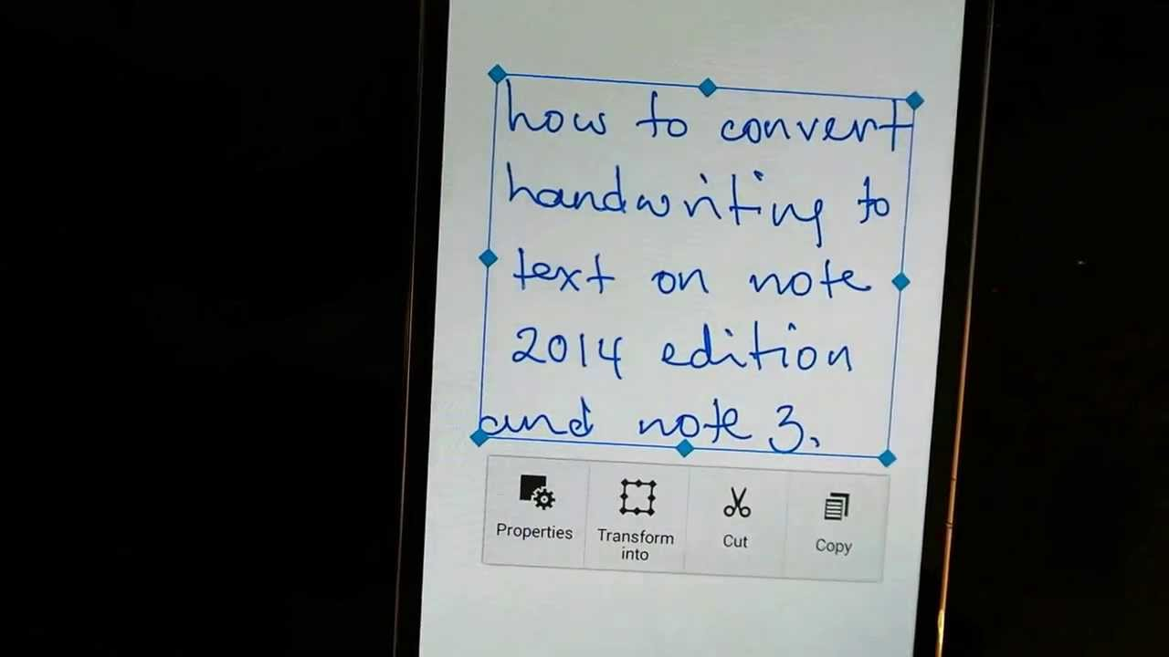 How to convert handwriting to text on the new s note app for