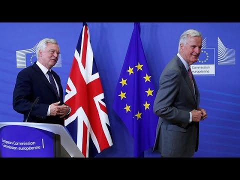 Thumbnail: [Watch again] Davis and Barnier speak after latest round of Brexit talks