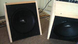 Home made foldback amps: Stereo Behringer GM108 with 12 inch Eminence