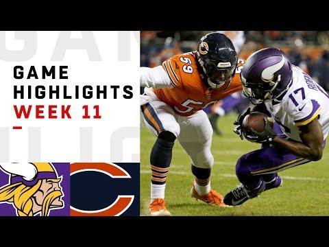 Vikings vs. Bears Week 11 Highlights   NFL 2018