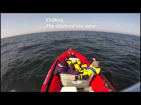 Testing our zodiac futura offshore - Testen van onze boot op de Noordzee