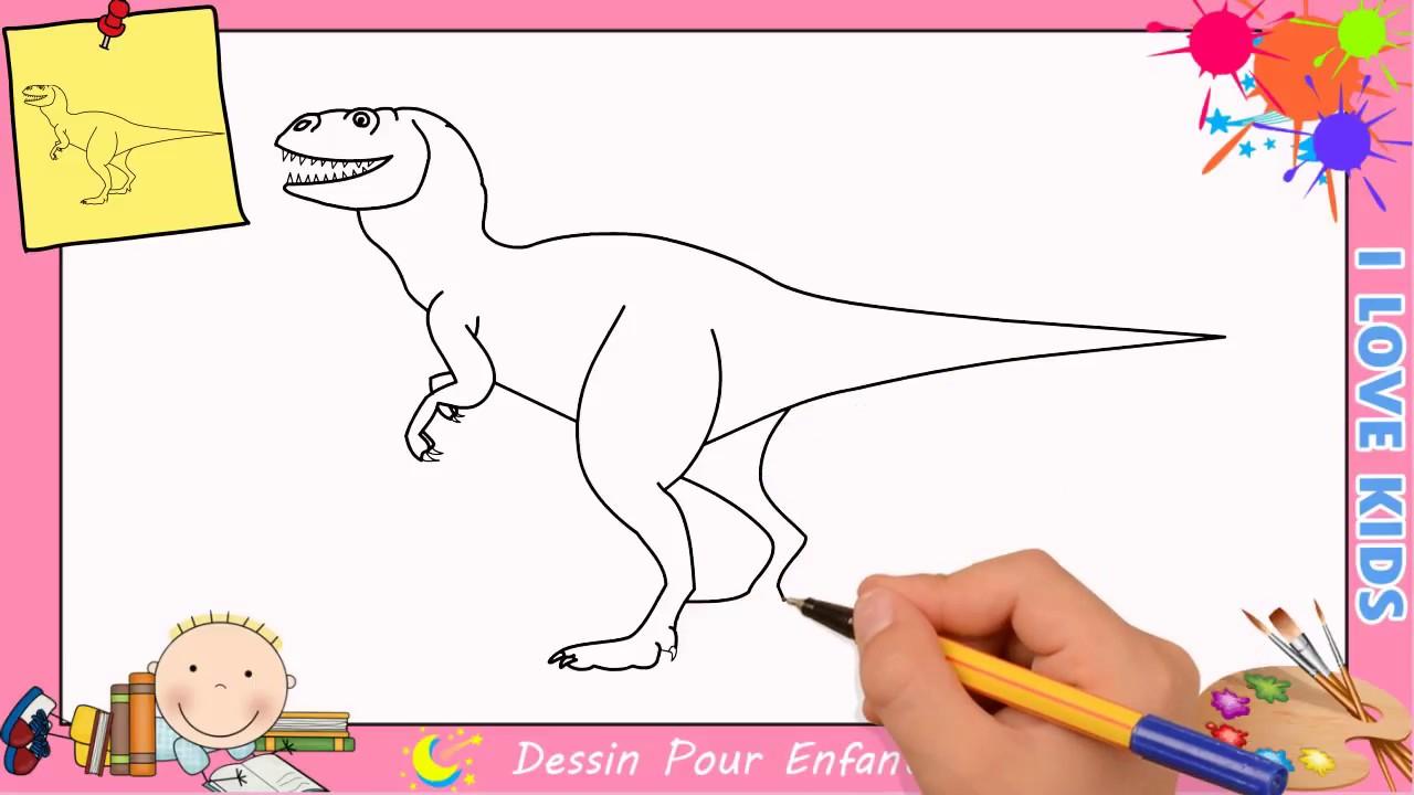 Comment Dessiner Un Dinosaure Facilement Mettre A Jour Pour Enfants 2 Youtube