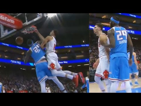 Zach LaVine Dunks on JaKarr Sampson and Makes Him Angry with Posterizer! Bulls vs Kings