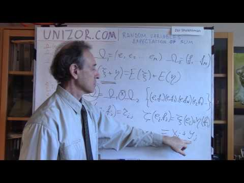 Unizor - Probability - Random Variables - Expectation Sum