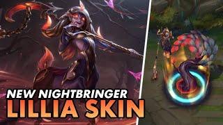💤🦌 *NEW* NIGHTBRINGER LILLIA SKIN is giving sadistic vibes! | Lillia Full PBE Gameplay | Luminum