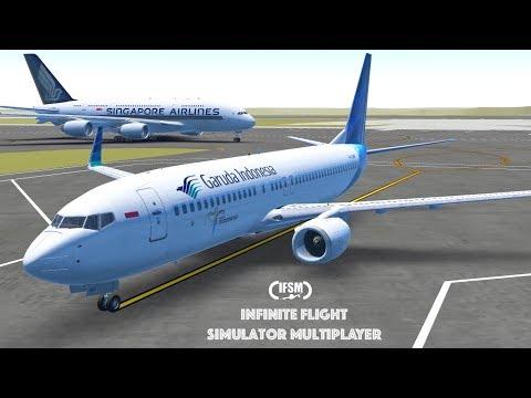 Infinite Flight Global Garuda Indonesia B737 - 800 - WSSS - WAAA