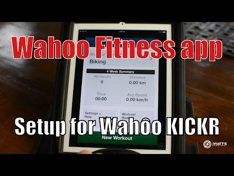 Wahoo Fitness app setup for Wahoo KICKR
