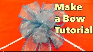 DIY Make a Bow Tutorial - Giftbasketappeal