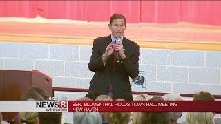 Sen. Blumenthal holds town hall meeting