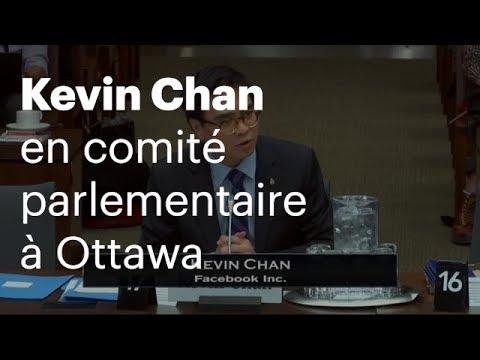 Kevin Chan en comité parlementaire  à Ottawa