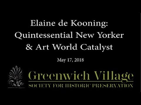 Elaine de Kooning: Quintessential New Yorker & Art World Catalyst