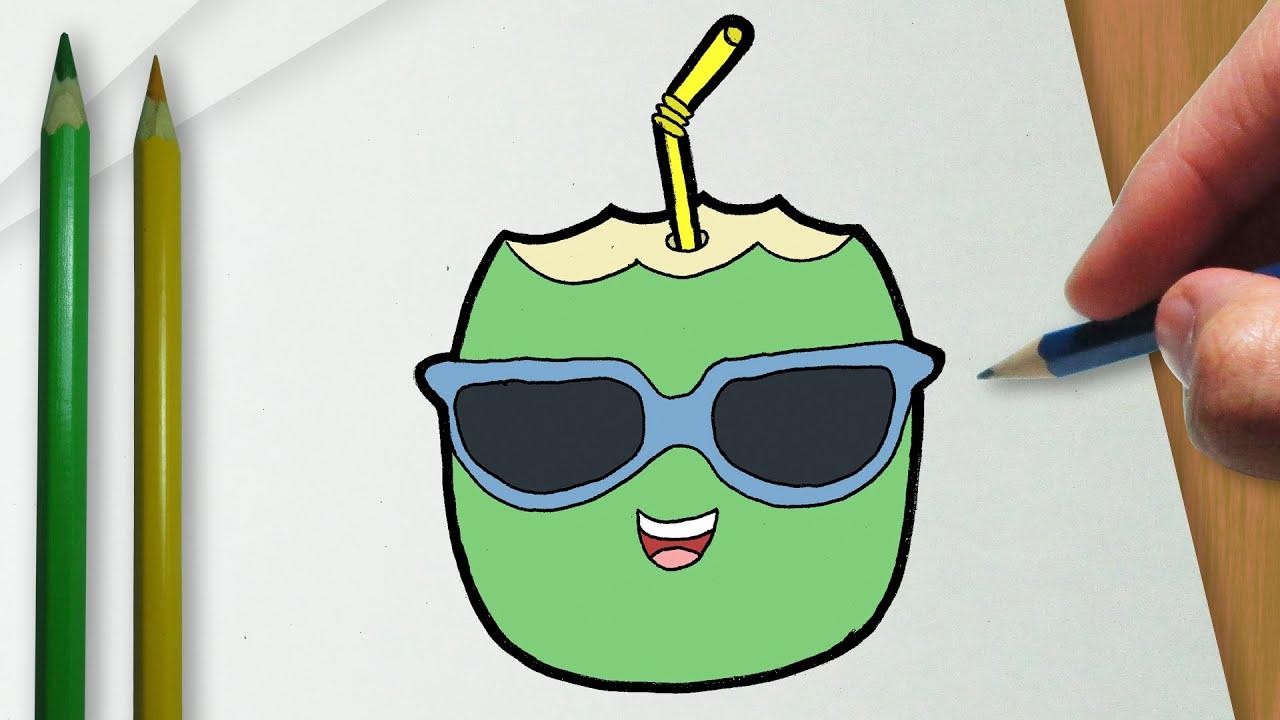 Como Desenhar Um Coco De Oculos Escuros Kawaii Youtube
