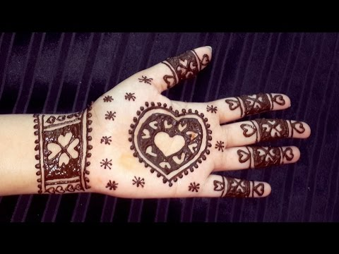 Heart Henna Design Valentines Day Heart Mehendi Design Easy