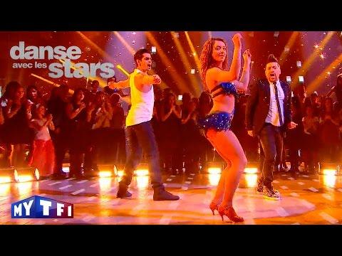 DALS S06 - Priscilla Betti, Christophe et Chris dansent une salsa sur ''Let's get loud'