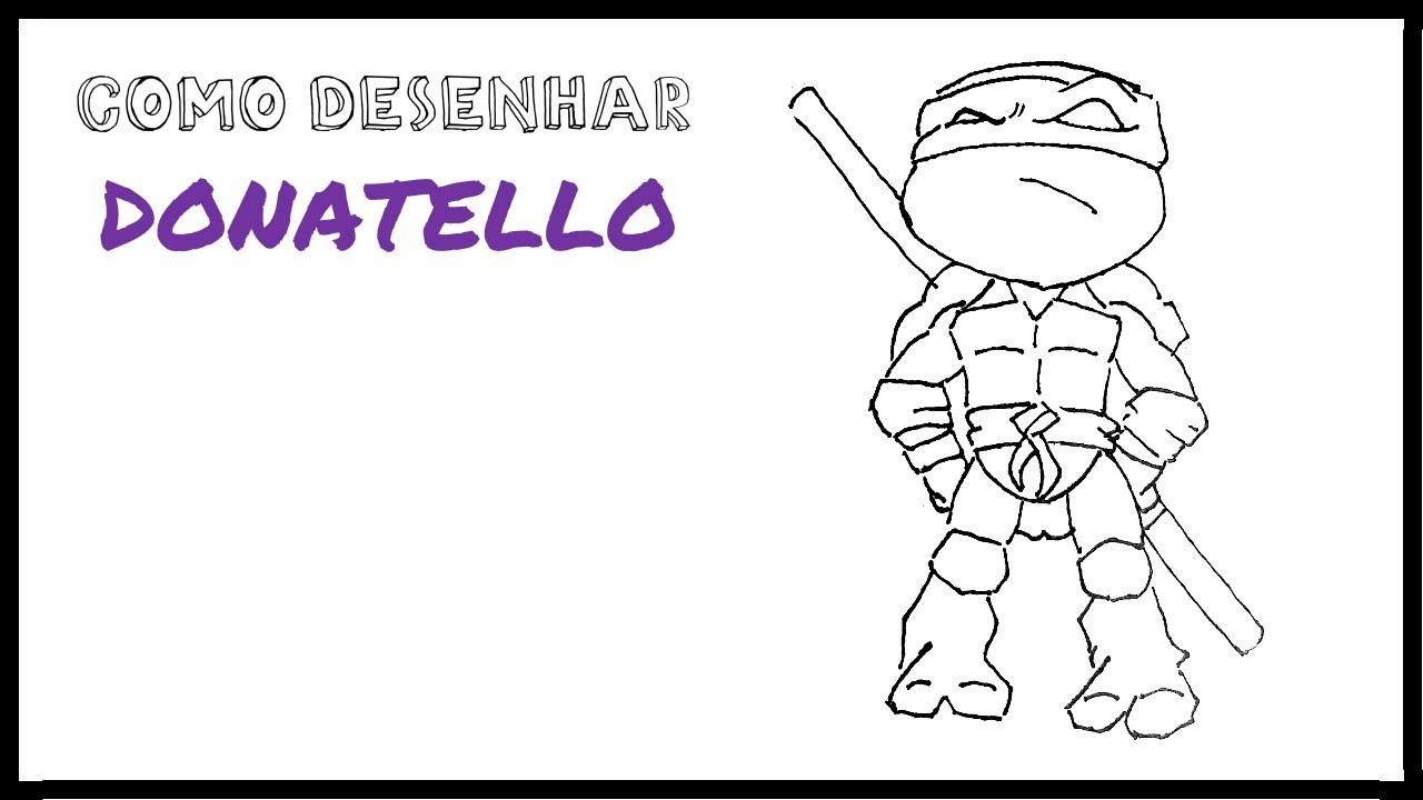 Como Desenhar O Donatello Chibi Tartarugas Ninjas Youtube