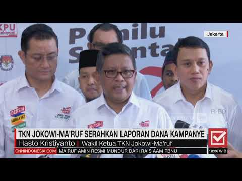 TKN Jokowi-Ma'ruf Serahkan Laporan Dana Kampanye Mp3