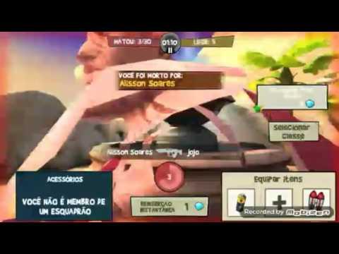 Partida no jogo Blitz Brigade (ANDROID)
