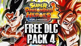 NEW HUGE DLC PACK 4 FREE UPDATE! Dragon Ball Heroes World Mission SSJ4 Vegito & OVER 99 Cards DLC