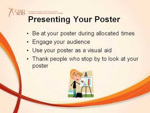 how to prepare for a poster presentation youtube