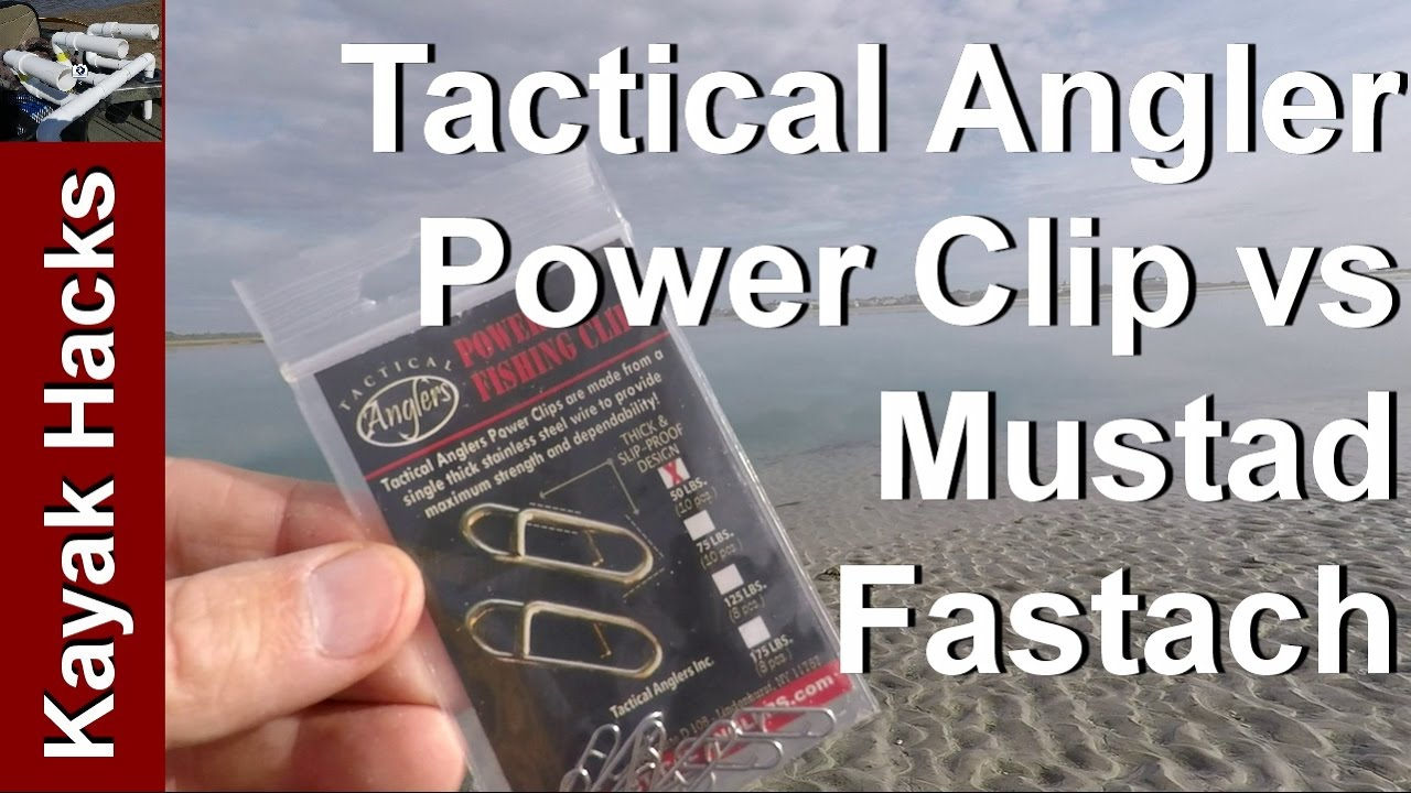 Tactical Angler Power Clips Review vs Mustad Fastach - YouTube