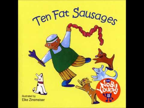 AFJY111 TEN FAT SAUSAGES 02 │麥克兒童英文書店│繪本有聲書